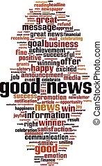 Good news-vertical [Converted].eps - Good news word cloud ...