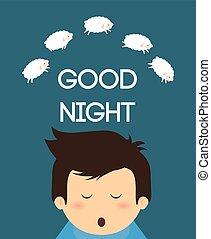 Good Night design - Good Night digital design, vector...