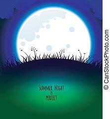 Good night design - Vector illustration (eps 10) of Good...