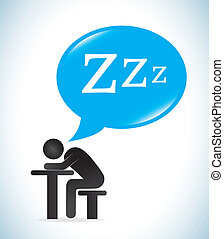 Good night design over white background, vector illustration