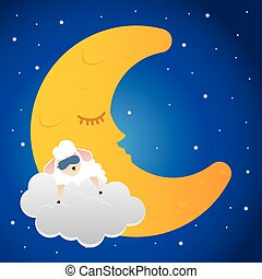 Good Night digital design, vector illustration 10 eps graphic