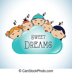 Good night design over white background, vector illustration