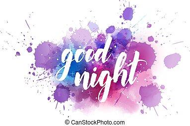Good night handwritten lettering - Good night - handwritten...