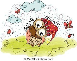 Good night owl of winter