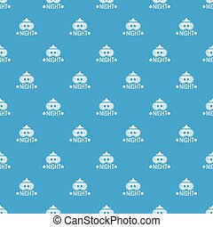 Good night pattern vector seamless blue