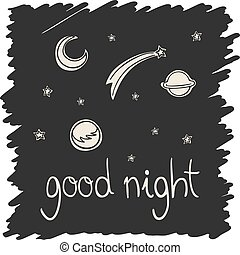 good night universe illustration