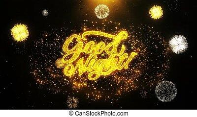 Good Night Wishes Greetings card, Invitation, Celebration...