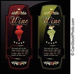 Good quality wine  labels.eps