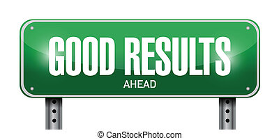 good results sign illustration design