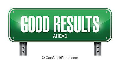 good results sign illustration design