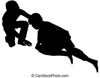 Good samaritan, illustration - Good samaritan, lending a ...