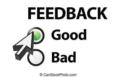 Good selected on a feedback question  Illustration design