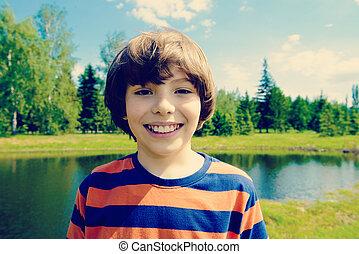 good smiling boy