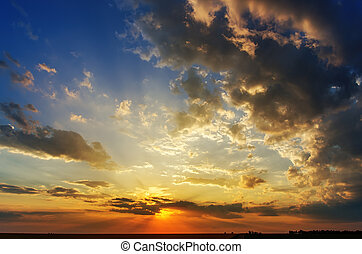 good sunset with dramatic clouds