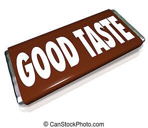 Good Taste Chocolate Candy Bar Wrapper - A brown chocolate ...