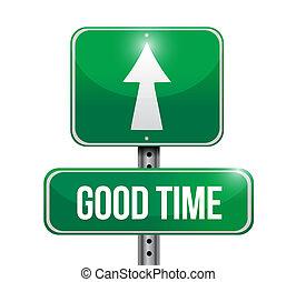 good time street sign concept illustration design