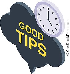 Good tips icon, isometric style