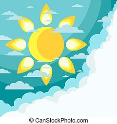 Good weather background. Vector