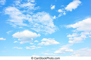 Good weather - Light blue sky with white clouds, may be used as background. Cloudscape