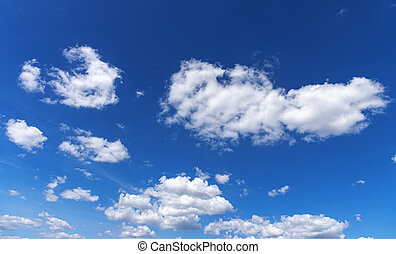 Good weather. White clouds in the blue sky.