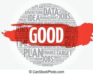 GOOD word cloud