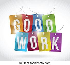 good work tags illustration design