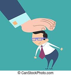 good worker boss praises businessman - A good businessman. ...