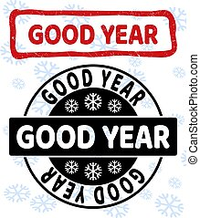 Good Year Grunge and Clean Stamp Seals for New Year