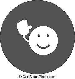 Goodbye - Bye, goodbye, see icon vector image. Can also be...