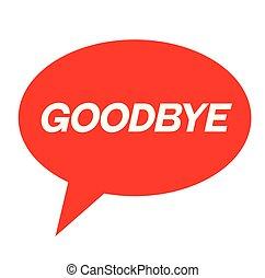 goodbye stamp on white