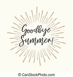 Goodbye Summer! Gold glitter background