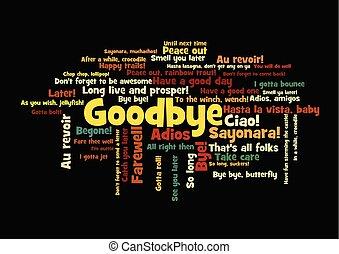 Goodbye Word Tag Cloud how say farewell - Goodbye Word Tag...
