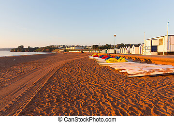 goodrington, plage,  Devon,  torbay