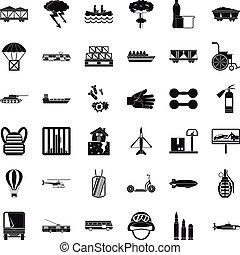 Goods icons set, simple style