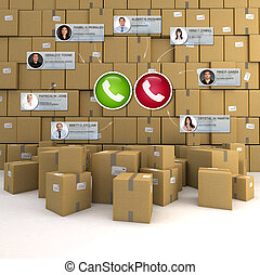 Goods logistics video conference