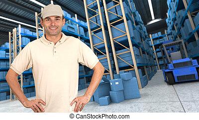 Goods reception at warehouse b