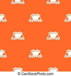 Goods train pattern vector orange