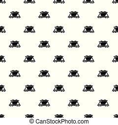 Goods train pattern vector seamless