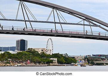 Goodwill Bridge - Brisbane Australia - BRISBANE, AUS - SEP ...