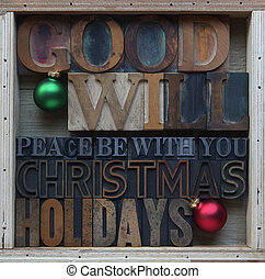 goodwill Christmas holiday words