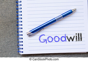 Goodwill write on notebook - Goodwill text concept write on ...