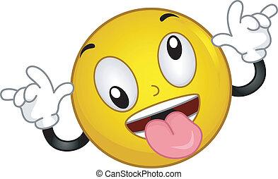 Goofy Smiley - Illustration of a Smiley Goofing Around