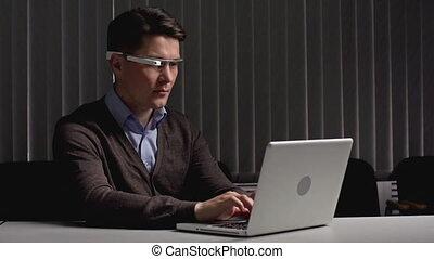 Google Goggles - Businessman sitting alone at the desk ...