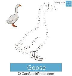 Goose bird learn to draw vector - Goose learn birds...