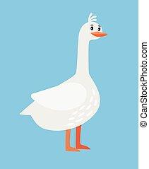 Goose farm bird cartoon icon