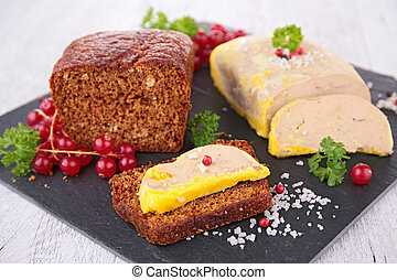 goose liver and gingerbread