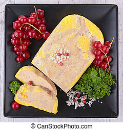 goose liver and redcurrant