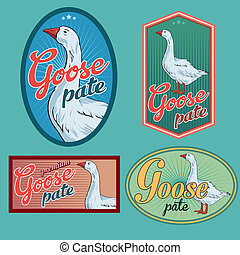 Goose pate vintage labels