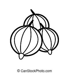 Gooseberries line icon on a white background