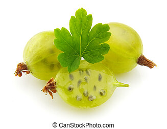 Gooseberries with leafs